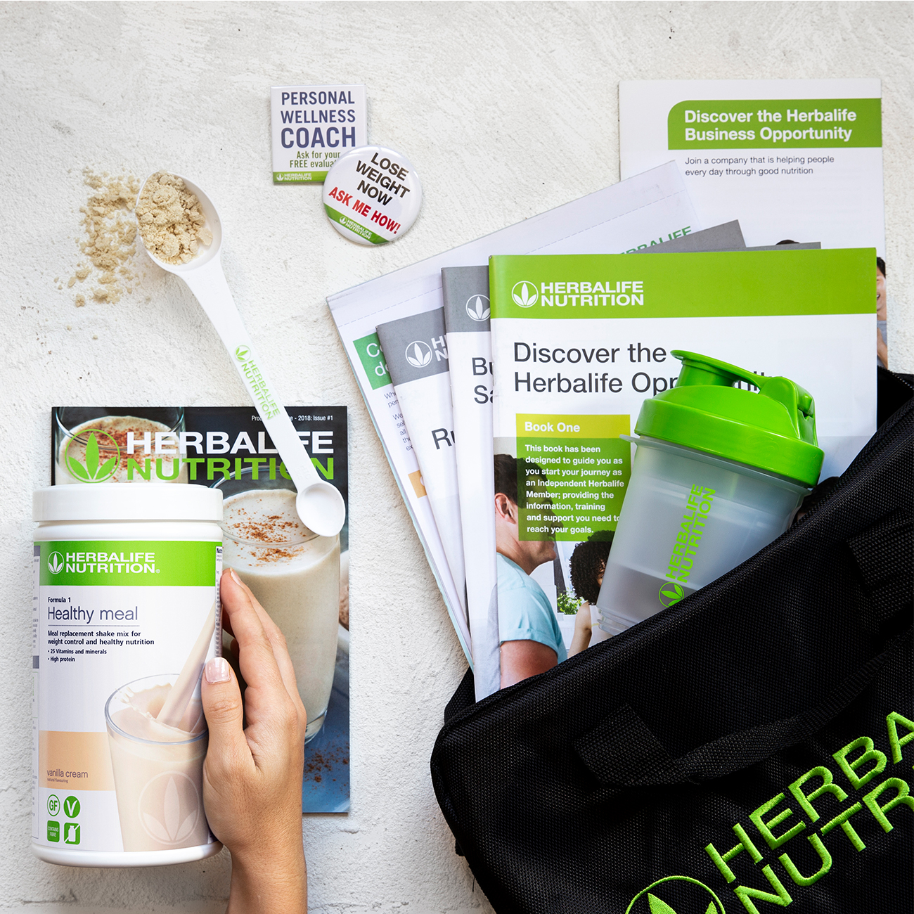 Herbalife nutrition starter pack shot